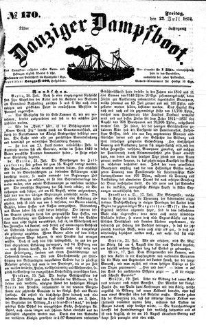Danziger Dampfboot für Geist, Humor, Satire, Poesie, Welt- und Volksleben, Korrespondenz, Kunst, Literatur und Theater vom 23.07.1852