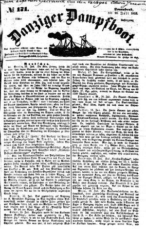 Danziger Dampfboot für Geist, Humor, Satire, Poesie, Welt- und Volksleben, Korrespondenz, Kunst, Literatur und Theater vom 24.07.1852