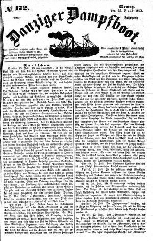 Danziger Dampfboot für Geist, Humor, Satire, Poesie, Welt- und Volksleben, Korrespondenz, Kunst, Literatur und Theater vom 26.07.1852