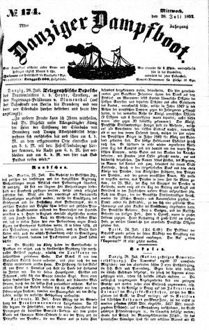 Danziger Dampfboot für Geist, Humor, Satire, Poesie, Welt- und Volksleben, Korrespondenz, Kunst, Literatur und Theater vom 28.07.1852