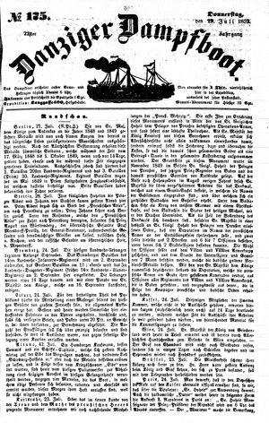 Danziger Dampfboot für Geist, Humor, Satire, Poesie, Welt- und Volksleben, Korrespondenz, Kunst, Literatur und Theater vom 29.07.1852