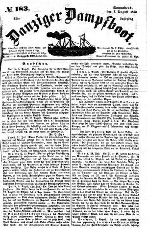 Danziger Dampfboot für Geist, Humor, Satire, Poesie, Welt- und Volksleben, Korrespondenz, Kunst, Literatur und Theater on Aug 7, 1852