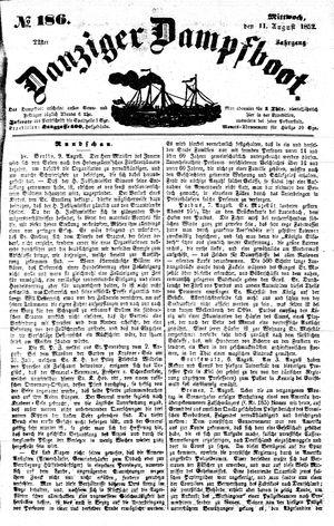 Danziger Dampfboot für Geist, Humor, Satire, Poesie, Welt- und Volksleben, Korrespondenz, Kunst, Literatur und Theater vom 11.08.1852