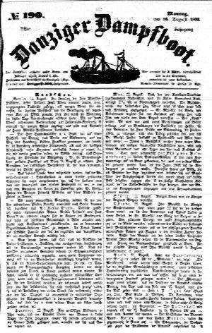 Danziger Dampfboot für Geist, Humor, Satire, Poesie, Welt- und Volksleben, Korrespondenz, Kunst, Literatur und Theater vom 16.08.1852