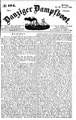 Danziger Dampfboot für Geist, Humor, Satire, Poesie, Welt- und Volksleben, Korrespondenz, Kunst, Literatur und Theater vom 20.08.1852