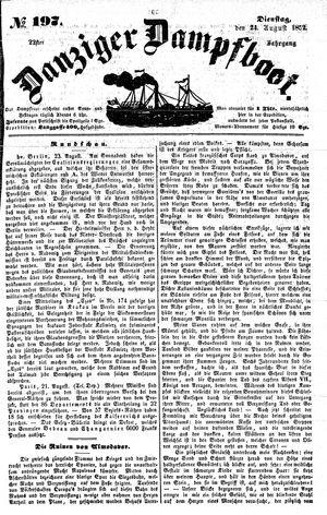 Danziger Dampfboot für Geist, Humor, Satire, Poesie, Welt- und Volksleben, Korrespondenz, Kunst, Literatur und Theater vom 24.08.1852