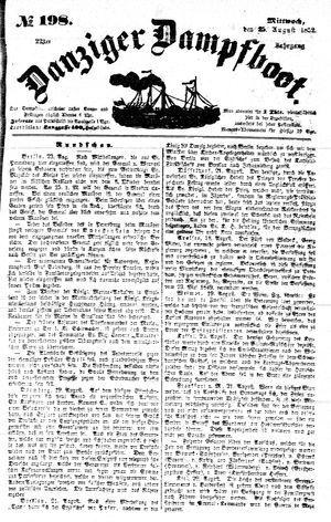 Danziger Dampfboot für Geist, Humor, Satire, Poesie, Welt- und Volksleben, Korrespondenz, Kunst, Literatur und Theater vom 25.08.1852