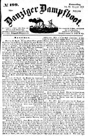 Danziger Dampfboot für Geist, Humor, Satire, Poesie, Welt- und Volksleben, Korrespondenz, Kunst, Literatur und Theater vom 26.08.1852