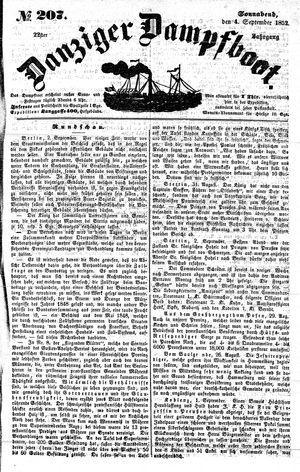 Danziger Dampfboot für Geist, Humor, Satire, Poesie, Welt- und Volksleben, Korrespondenz, Kunst, Literatur und Theater vom 04.09.1852