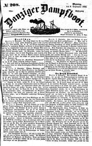 Danziger Dampfboot für Geist, Humor, Satire, Poesie, Welt- und Volksleben, Korrespondenz, Kunst, Literatur und Theater on Sep 6, 1852