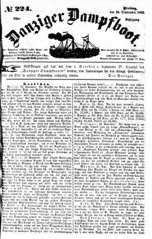 Danziger Dampfboot für Geist, Humor, Satire, Poesie, Welt- und Volksleben, Korrespondenz, Kunst, Literatur und Theater vom 24.09.1852