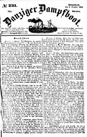 Danziger Dampfboot für Geist, Humor, Satire, Poesie, Welt- und Volksleben, Korrespondenz, Kunst, Literatur und Theater on Oct 2, 1852