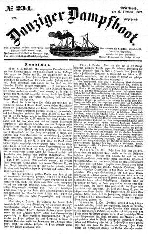 Danziger Dampfboot für Geist, Humor, Satire, Poesie, Welt- und Volksleben, Korrespondenz, Kunst, Literatur und Theater vom 06.10.1852