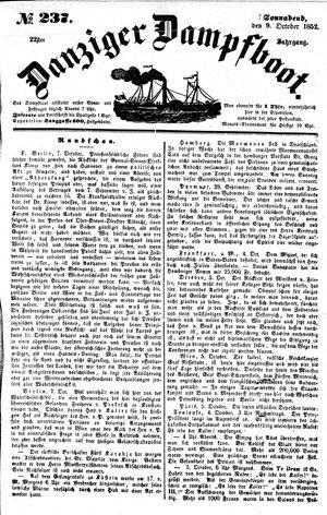 Danziger Dampfboot für Geist, Humor, Satire, Poesie, Welt- und Volksleben, Korrespondenz, Kunst, Literatur und Theater vom 09.10.1852