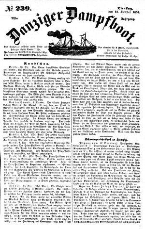 Danziger Dampfboot für Geist, Humor, Satire, Poesie, Welt- und Volksleben, Korrespondenz, Kunst, Literatur und Theater vom 12.10.1852