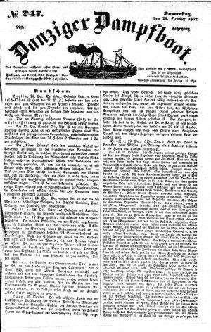 Danziger Dampfboot für Geist, Humor, Satire, Poesie, Welt- und Volksleben, Korrespondenz, Kunst, Literatur und Theater on Oct 21, 1852