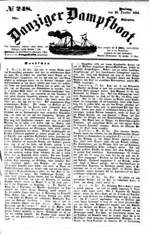 Danziger Dampfboot für Geist, Humor, Satire, Poesie, Welt- und Volksleben, Korrespondenz, Kunst, Literatur und Theater vom 22.10.1852