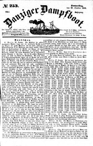 Danziger Dampfboot für Geist, Humor, Satire, Poesie, Welt- und Volksleben, Korrespondenz, Kunst, Literatur und Theater vom 28.10.1852