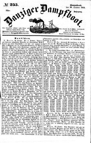 Danziger Dampfboot für Geist, Humor, Satire, Poesie, Welt- und Volksleben, Korrespondenz, Kunst, Literatur und Theater vom 30.10.1852