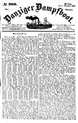 Danziger Dampfboot für Geist, Humor, Satire, Poesie, Welt- und Volksleben, Korrespondenz, Kunst, Literatur und Theater vom 05.11.1852