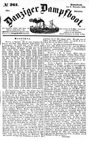 Danziger Dampfboot für Geist, Humor, Satire, Poesie, Welt- und Volksleben, Korrespondenz, Kunst, Literatur und Theater vom 06.11.1852
