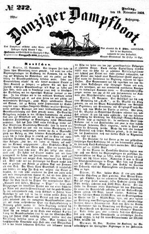 Danziger Dampfboot für Geist, Humor, Satire, Poesie, Welt- und Volksleben, Korrespondenz, Kunst, Literatur und Theater on Nov 19, 1852