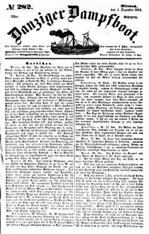 Danziger Dampfboot für Geist, Humor, Satire, Poesie, Welt- und Volksleben, Korrespondenz, Kunst, Literatur und Theater vom 01.12.1852