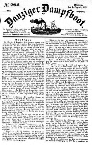 Danziger Dampfboot für Geist, Humor, Satire, Poesie, Welt- und Volksleben, Korrespondenz, Kunst, Literatur und Theater vom 03.12.1852
