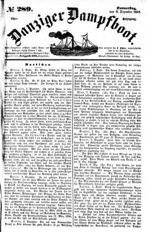 Danziger Dampfboot für Geist, Humor, Satire, Poesie, Welt- und Volksleben, Korrespondenz, Kunst, Literatur und Theater vom 09.12.1852