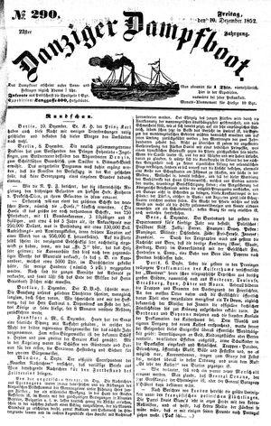 Danziger Dampfboot für Geist, Humor, Satire, Poesie, Welt- und Volksleben, Korrespondenz, Kunst, Literatur und Theater vom 10.12.1852