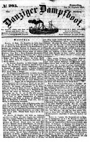 Danziger Dampfboot für Geist, Humor, Satire, Poesie, Welt- und Volksleben, Korrespondenz, Kunst, Literatur und Theater vom 16.12.1852