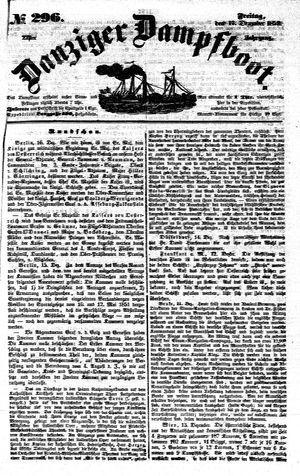 Danziger Dampfboot für Geist, Humor, Satire, Poesie, Welt- und Volksleben, Korrespondenz, Kunst, Literatur und Theater vom 17.12.1852