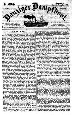Danziger Dampfboot für Geist, Humor, Satire, Poesie, Welt- und Volksleben, Korrespondenz, Kunst, Literatur und Theater vom 18.12.1852