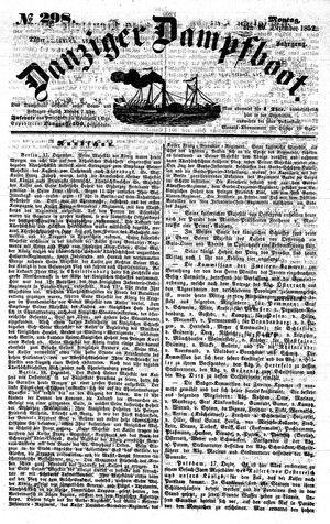 Danziger Dampfboot für Geist, Humor, Satire, Poesie, Welt- und Volksleben, Korrespondenz, Kunst, Literatur und Theater on Dec 20, 1852