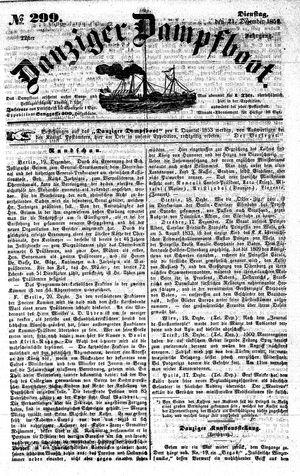 Danziger Dampfboot für Geist, Humor, Satire, Poesie, Welt- und Volksleben, Korrespondenz, Kunst, Literatur und Theater on Dec 21, 1852