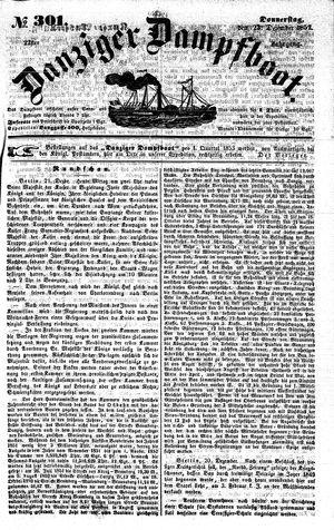 Danziger Dampfboot für Geist, Humor, Satire, Poesie, Welt- und Volksleben, Korrespondenz, Kunst, Literatur und Theater vom 23.12.1852