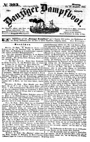 Danziger Dampfboot für Geist, Humor, Satire, Poesie, Welt- und Volksleben, Korrespondenz, Kunst, Literatur und Theater on Dec 27, 1852