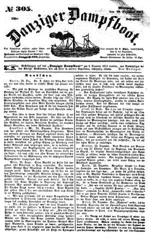 Danziger Dampfboot für Geist, Humor, Satire, Poesie, Welt- und Volksleben, Korrespondenz, Kunst, Literatur und Theater vom 29.12.1852