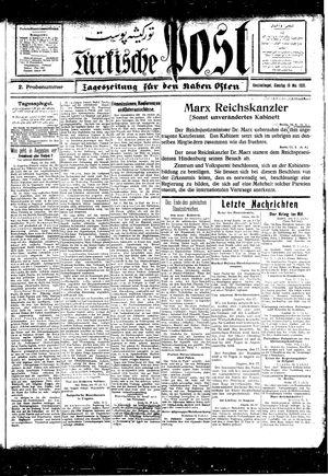 Türkische Post vom 18.05.1926