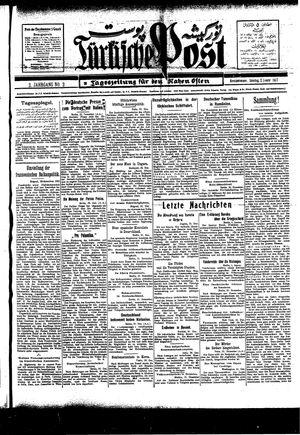 Türkische Post vom 02.01.1927