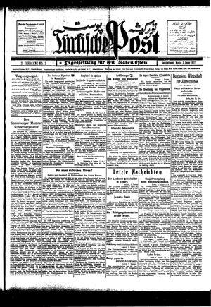 Türkische Post vom 03.01.1927