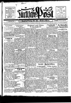 Türkische Post vom 04.01.1927