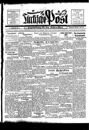 Türkische Post vom 05.01.1927