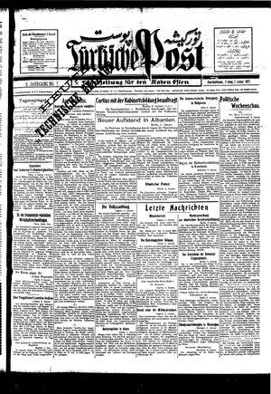 Türkische Post vom 07.01.1927