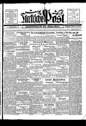 Türkische Post vom 13.01.1927