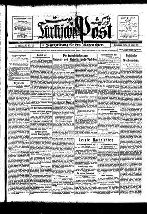 Türkische Post vom 14.01.1927