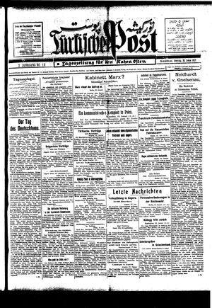 Türkische Post vom 18.01.1927