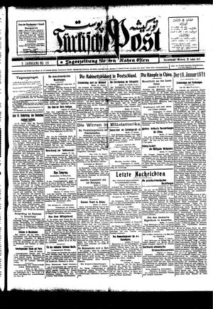 Türkische Post vom 19.01.1927