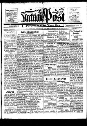 Türkische Post vom 20.01.1927