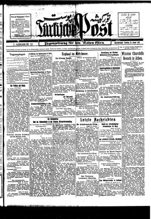 Türkische Post on Jan 23, 1927